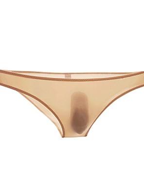 cheap Men's Exotic Underwear-Men's Basic Sexy Briefs Underwear - Normal, Solid Colored Low Waist Black White Blushing Pink M L XL / Club