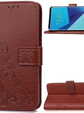 abordables Accesorios para Samsung-Funda Para Samsung Galaxy S8 Plus / S8 Cartera / Soporte de Coche / con Soporte Funda de Cuerpo Entero Un Color Suave Cuero de PU