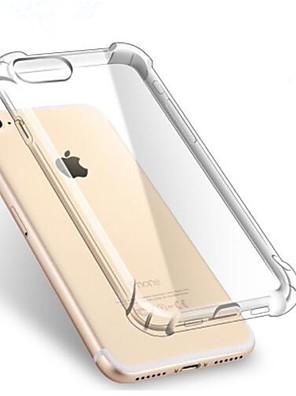 povoljno iPhone maske-Θήκη Za Apple iPhone X / iPhone 8 Plus / iPhone 8 Otporno na trešnju / Prozirno Stražnja maska Jednobojni Mekano TPU