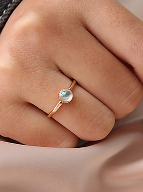 cheap Quartz Watches-Women's Ring Tail Ring Moonstone 1pc Gold Resin Alloy Circular Personalized Simple Korean Gift Daily Jewelry Classic Cute Lovely
