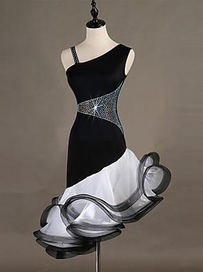 8662150fdcec Balli latino-americani Vestiti Per donna Addestramento   Prestazioni  Elastene   Tulle Cristalli   Strass