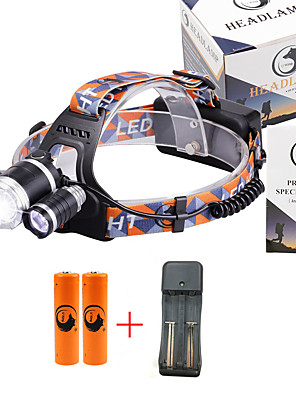 cheap Cocktail Dresses-U'King Headlamps Headlight 3000 lm LED LED 3 Emitters 3 4 Mode with Batteries and Charger Zoomable Adjustable Focus Compact Size High Power Easy Carrying Camping / Hiking / Caving Everyday Use