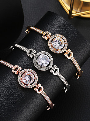 cheap Quartz Watches-Women's Crystal Crystal Bracelet Tennis Chain Sun Precious Simple Elegant Fashion Rhinestone Bracelet Jewelry Rose Gold / Gold / Silver For Going out Work