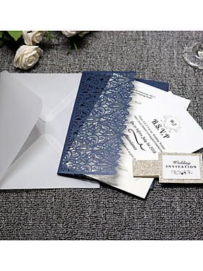 cheap Favor Holders-Side Fold Wedding Invitations 20 - Invitation Cards Artistic Style Pure Paper