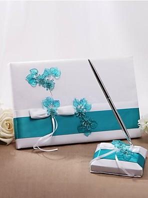 cheap Bridesmaid Dresses-Guest Book / Pen Set Wedding With Crystal / Rhinestone / Ruche Guest Book / Pen Set