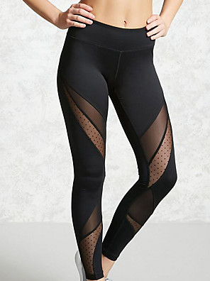 cheap Leggings-Women's Sporty Legging - Color Block, Cut Out Mid Waist Black S M L / Slim