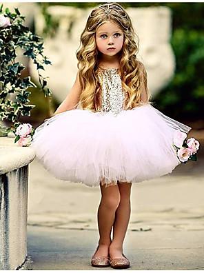 cheap Baby Girls'  Dresses-Baby Girls' Basic Daily Solid Colored Sleeveless Regular Regular Cotton Dress Black