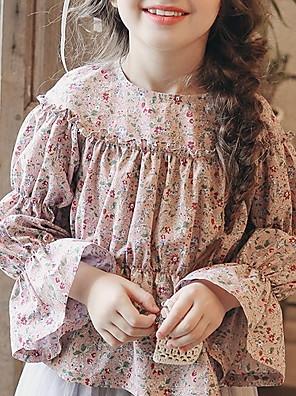 cheap Girls' Dresses-Kids Girls' Active Geometric Long Sleeve Shirt Blushing Pink