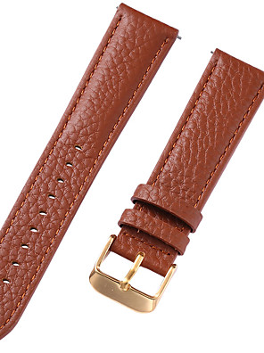 cheap Leather Watch Bands-Genuine Leather / Leather / Calf Hair Watch Band Brown 20cm / 7.9 Inches 1cm / 0.39 Inches / 1.2cm / 0.47 Inches / 1.3cm / 0.5 Inches