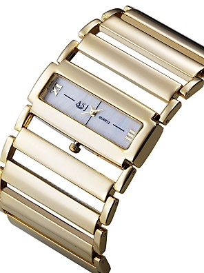 cheap Square & Rectangular Watches-ASJ Women's Dress Watch Square Watch Japanese Quartz Luxury Casual Watch Silver / Gold Analog - Gold Silver One Year Battery Life / SSUO SR626SW+CR2025