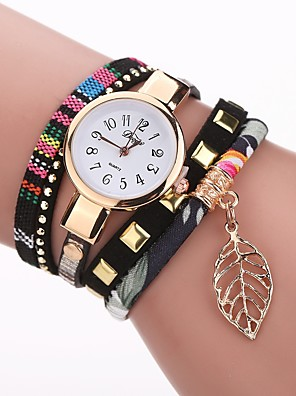 cheap Quartz Watches-Women's Bracelet Watch Quartz Vintage Style Stylish Casual Casual Watch PU Leather Black / Red / Fuchsia Analog - White Black Red One Year Battery Life