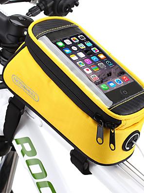 cheap Smart Watches-ROSWHEEL 1.2/1.5 L Cell Phone Bag Bike Frame Bag Top Tube Moistureproof Waterproof Zipper Wearable Bike Bag PVC(PolyVinyl Chloride) Terylene Mesh Bicycle Bag Cycle Bag iPhone X / iPhone XR / iPhone XS