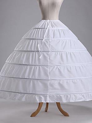 cheap Wedding Slips-Petticoat Hoop Skirt Tutu Under Skirt 1950s Cotton Green Blue Fuchsia Petticoat / Crinoline