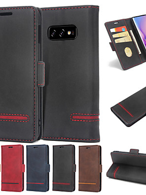 cheap Huawei Case-Case For Huawei Huawei P30 / Huawei P30 Pro / Huawei P30 Lite Wallet / Card Holder / Flip Full Body Cases Solid Colored Hard PU Leather