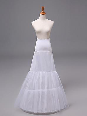 cheap Wedding Slips-Bride Classic Lolita 1950s Dress Petticoat Hoop Skirt Crinoline Women's Girls' Tulle Costume White Vintage Cosplay Party Performance Princess