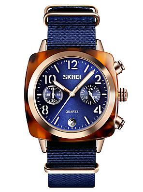 cheap Quartz Watches-SKMEI Women's Dress Watch Wrist Watch Quartz Minimalist Water Resistant / Waterproof Nylon Black / White / Blue Analog - White Black Red One Year Battery Life / Calendar / date / day / Chronograph