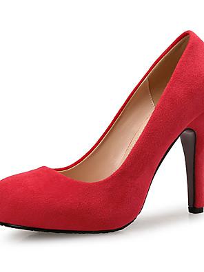 cheap Women's Pants-Women's Suede Spring &  Fall Sweet / Minimalism Heels Platform Round Toe Red / Green / Light Brown