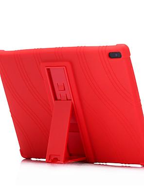 cheap iPad case-Case For Lenovo Lenovo Tab 4 8 Plus / Lenovo Tab 4 8 / Lenovo Tab 4 10 Plus Shockproof / with Stand Back Cover Solid Colored Soft Silicone