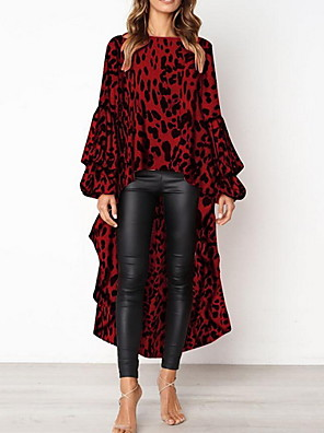 povoljno Bluza-Žene Leopard Bluza Red / Braon