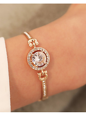 cheap Quartz Watches-Women's Bracelet Bangles Classic Circle Stylish Elegant Alloy Bracelet Jewelry Rose Gold / Gold / Silver For Daily Date Valentine