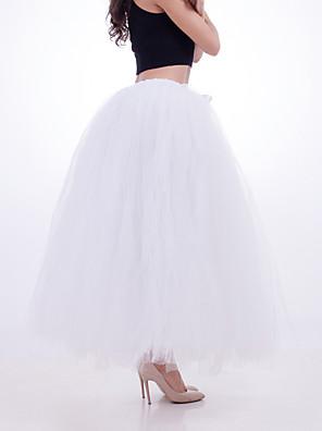 cheap Wedding Slips-Petticoat Hoop Skirt Tutu Under Skirt 1950s Green Blue Pink Petticoat / Crinoline