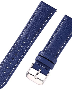 cheap Leather Watch Bands-Genuine Leather / Leather / Calf Hair Watch Band Blue 17cm / 6.69 Inches / 18cm / 7 Inches / 19cm / 7.48 Inches 1cm / 0.39 Inches / 1.2cm / 0.47 Inches / 1.3cm / 0.5 Inches