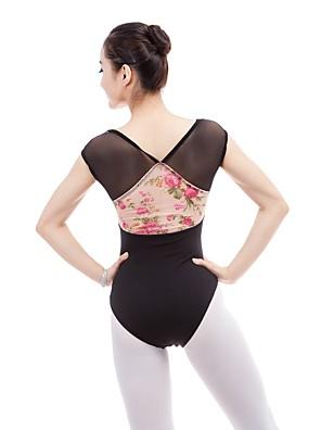 cheap Evening Dresses-Ballet Leotard / Onesie Lace Hook & Loop Women's Training Performance Sleeveless Elastane Vicose Cotton