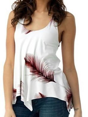 povoljno Majica-Žene Veći konfekcijski brojevi Grafika Slim Potkošulja Lila-roza / Crn / Plava / purpurna boja / Djetelina