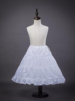 cheap Wedding Slips-Petticoat Hoop Skirt Tutu Under Skirt 1950s White Petticoat / Kid's / Crinoline