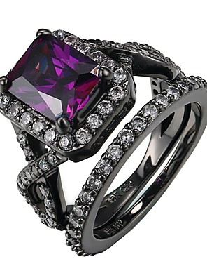 cheap Quartz Watches-Women's Ring 1pc Purple Alloy Gift Daily Jewelry Lovely