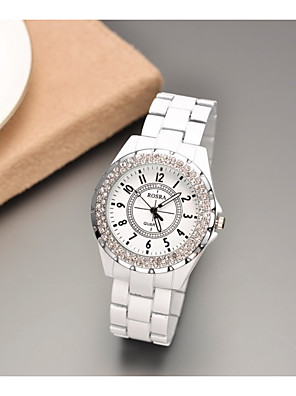 cheap Quartz Watches-Women's Quartz Watches Casual Fashion Black White Stainless Steel Quartz White Black Casual Watch 1 pc Analog One Year Battery Life