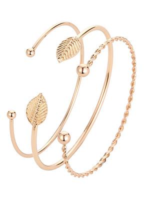 cheap Quartz Watches-Women's Cuff Bracelet Classic Stylish Korean Alloy Bracelet Jewelry Gold For Daily