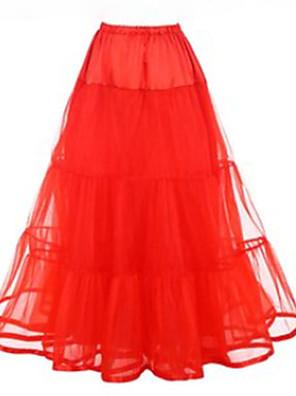 cheap Wedding Slips-Petticoat Hoop Skirt Tutu Under Skirt 1950s Pink Fuchsia Ivory Petticoat / Crinoline