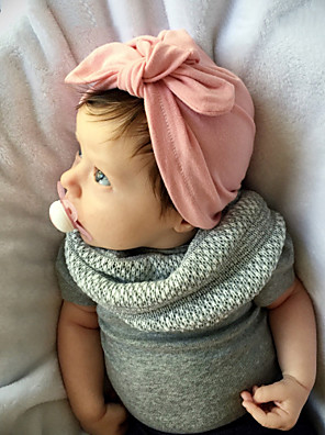 cheap Baby Girls' One-Piece-Toddler Girls' Basic / Sweet Sun Flower Solid Colored Linen Hair Accessories Pink / Gray / Fuchsia One-Size