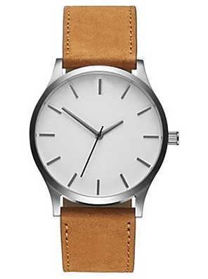 cheap Quartz Watches-Men's Wrist Watch Quartz Casual Casual Watch Leather Black / Brown Analog - Black / White White Black One Year Battery Life / Large Dial / SSUO SR626SW