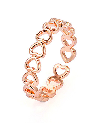 cheap Quartz Watches-Women's Ring 1pc Rose Gold Silver Copper Stylish Daily Jewelry Classic