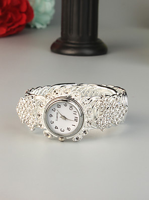cheap Quartz Watches-FEIS Women's Bracelet Watch Quartz Fashion Creative Silver Analog - Digital - Silver
