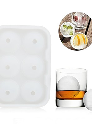 cheap Drinkware-6 Ice Ball Mold Maker Silicone Mold Leak Proof  Secure Closure Silicone Ice Tray