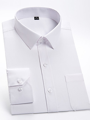 cheap Shirts-Men's Solid Colored Shirt Basic Wedding Party White / Blue / Blushing Pink