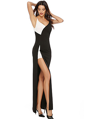 cheap Special Occasion Dresses-A-Line Sexy Furcal Holiday Prom Dress Spaghetti Strap Sleeveless Floor Length Charmeuse with Split Front 2020