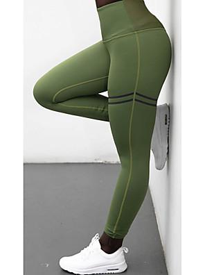cheap Leggings-Women's Sporty Legging - Solid Colored High Waist Black Blue Red S M L / Slim