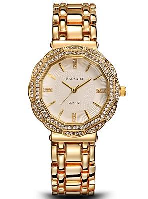 cheap Quartz Watches-Women's Quartz Watches Luxury Classic Silver Gold Alloy Quartz Gold Silver Chronograph Cute New Design 30 m 1 pc Analog Two Years Battery Life