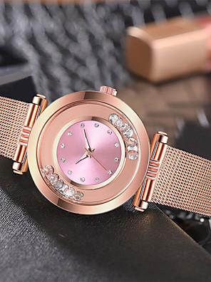 cheap Quartz Watches-Women's Quartz Watches Quartz Stylish Casual Water Resistant / Waterproof Stainless Steel Rose Gold Analog - White Black Blue / Imitation Diamond