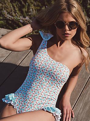 cheap Swimwear&Bikinis-Normal Polyester Swimwear & Bikinis Sexy Floral Daily Wear Printing