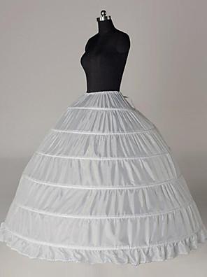 cheap Historical & Vintage Costumes-Bride Classic Lolita 1950s Dress Petticoat Hoop Skirt Crinoline Women's Girls' Cotton Costume White Vintage Cosplay Party Performance Princess