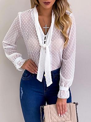 povoljno Bluza-Žene Jednobojni Bluza V izrez Obala / Crn / Blushing Pink / Svjetloplav