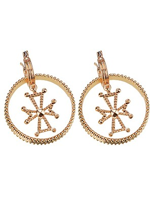 cheap Quartz Watches-Women's Gold Drop Earrings Geometrical European Earrings Jewelry Gold For Daily 1 Pair