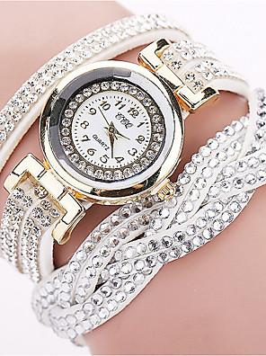hesapli Kuvars Saatler-Kadın's Quartz Quartz Bilezik Saat Elmas Analog Beyaz Siyah Mor / Bir yıl / Paslanmaz Çelik / Paslanmaz Çelik / Bir yıl