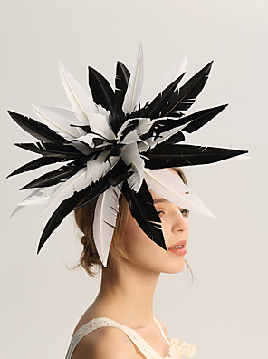 cheap Wedding Slips-Flax / Feathers Fascinators with Feather 1pc Wedding / Special Occasion / Horse Race Headpiece