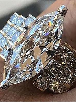 cheap Plus Size Dresses-Women's Promise Ring Cubic Zirconia 1pc White Copper Geometric Stylish Iridescent Wedding Daily Jewelry Classic Joy Cool